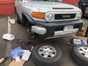 toyota all wheels brake pads and rotor